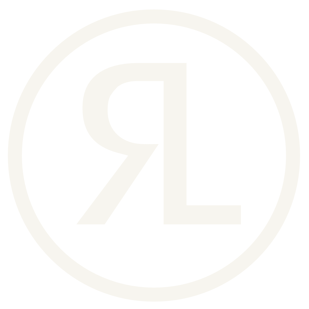 Radar Landscapes logo - letters R and L in circle
